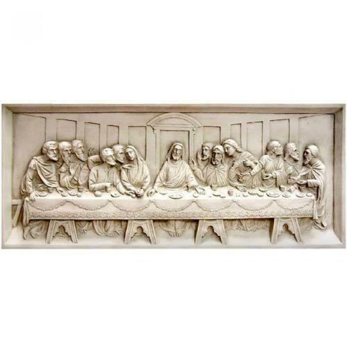 Last Supper Wall Relief 25in Fiberglass Wall Art Last Supper Antique Stone Wall Art
