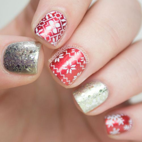 36 best simple christmas nail art designs images on pinterest simple christmas nail art designs prinsesfo Choice Image