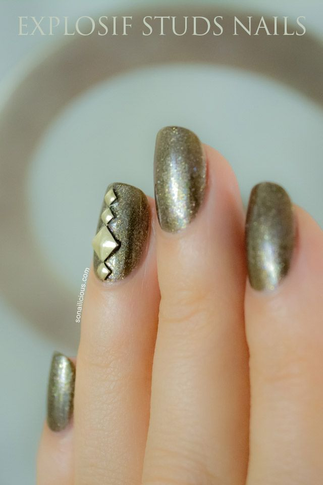 Studs nails.  Day 27 of the #nailart challenge.