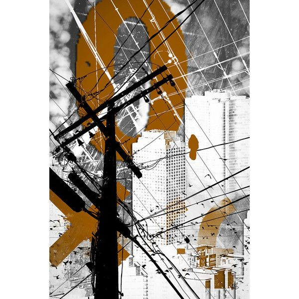 Urban Grunge Orange Industrial Abstract Wall Art Fine Art Print Modern... (400 ARS) ❤ liked on Polyvore featuring home, home decor, wall art, orange wall art, wall street art, orange home accessories, orange home decor and mixed media wall art