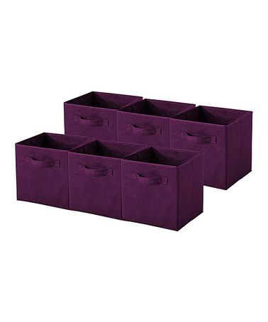 Love this Sorbus® Purple Collapsible Storage Cube - Set of Six on #zulily! #zulilyfinds