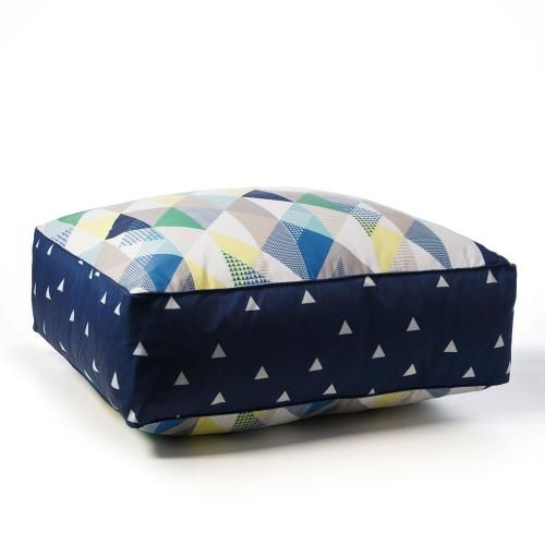 In a beautiful deep blue with a fun triangle pattern, the Calgary floor cushion is a wonderful and stylish seating option for your little one. A generous size and nice and sturdy, this cushion is a comfy place to sit for both the young and young at heart.