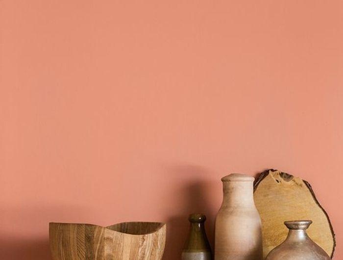 mur-de-couleur-rose-saumoné-rose-orange-signification-meuble-d-intérieur-mur-en-rose