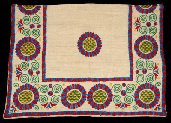 Hungarian Folk Buzsak Embroidered Pillow Case from by TheMightyCat