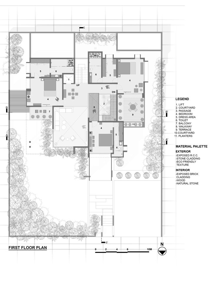 Gallery Of Pixel House The Grid Architects 30 Grid Architects Architect Courtyard House Plans