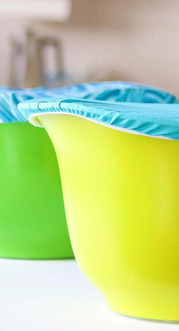 Brighten up your countertops and stay organized by learning how to make this simple, reusable fabric bowl cover. Complete this fun sewing tutorial in just 3 steps.