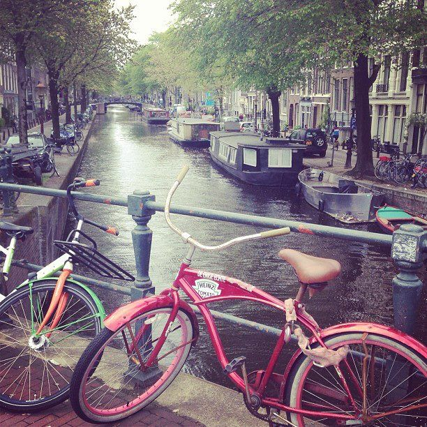 Amsterdam - the amount of times I nearly got hit by a bike was crazy!