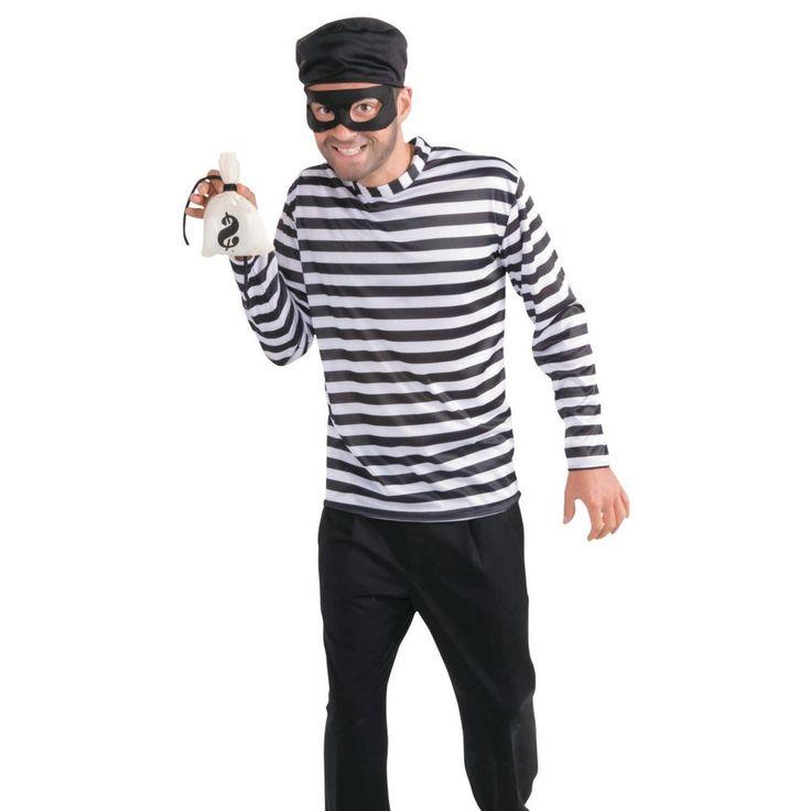 Burglar Halloween Costume for Men - One Size Fits All