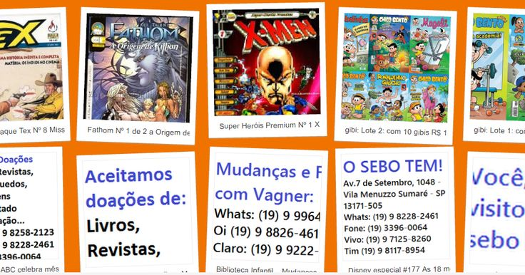 marketing: gibis e almanaques: (19) 9 8258- (19) 3396- Sebo Vitória Régia