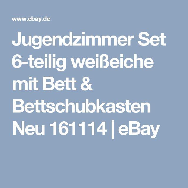 Elegant Jugendzimmer Set teilig wei eiche mit Bett u Bettschubkasten Neu eBay