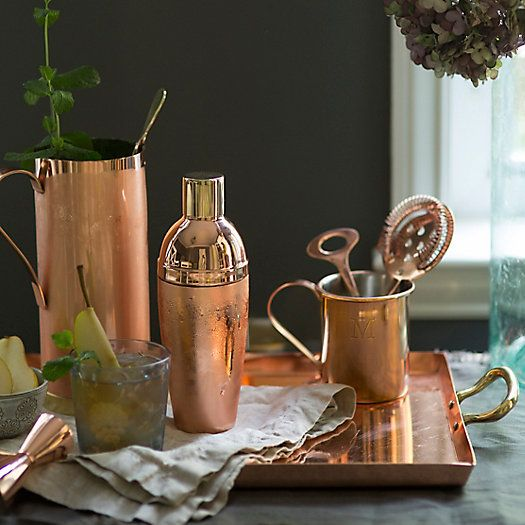 Copper & Brass Cocktail Shaker