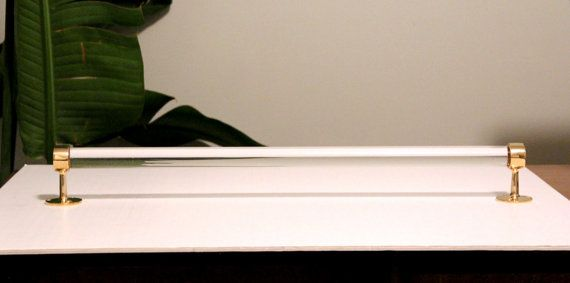 CUSTOM TOWEL BAR  Lucite w/ Polished Brass or by LuxHoldups, $62.00
