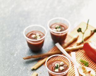 Kalte Tomaten-Aprikosen-Suppe