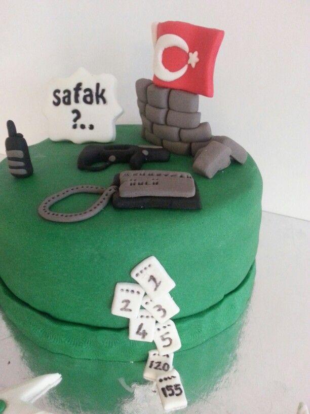 Asker pastası #cake #pasta #sweet #smile #flavor #perfect #asker #soldier #türkaskeri #chef #fondan #pastry