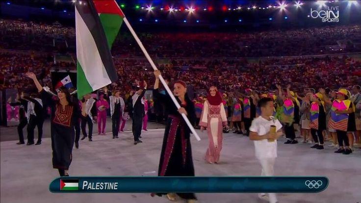 The #Palestine team at the #Olympics  #FreePalestine #Rio2016 #OpeningCeremony