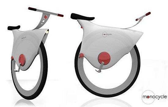 Monocycle is the world's first self balancing bike