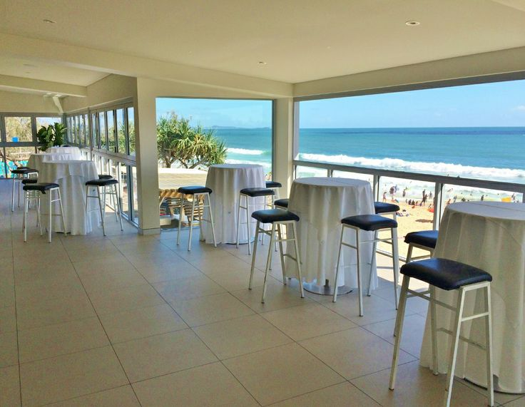 You can open the windows in the function room at The Surf Club Mooloolaba to let to ocean breeze and atmosphere in from the beach below.