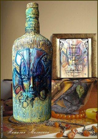 Подарочное оформление бутылок. Сувениры