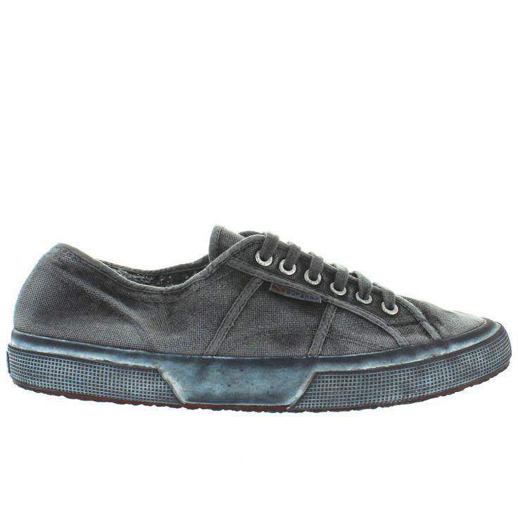 Superga 2750 Classic - Black Worn Canvas Lace Sneaker