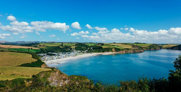 Private beach at Pentewan Sands Holiday Park in Cornwall