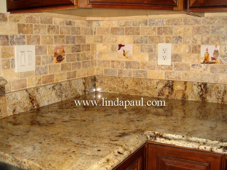 Good Extra Beauty From Kitchen Backsplash Design : Marvelous Kitchen Backsplash Designs  Granite Countertops Ideas. A Shiny Ceramic Tile Backsplash,Above The ...