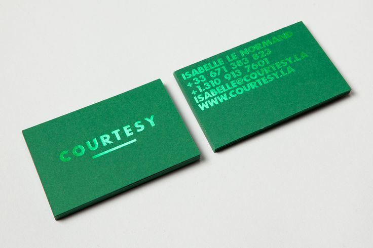 Courtesy visual identity and foiled business cards by Akatre.