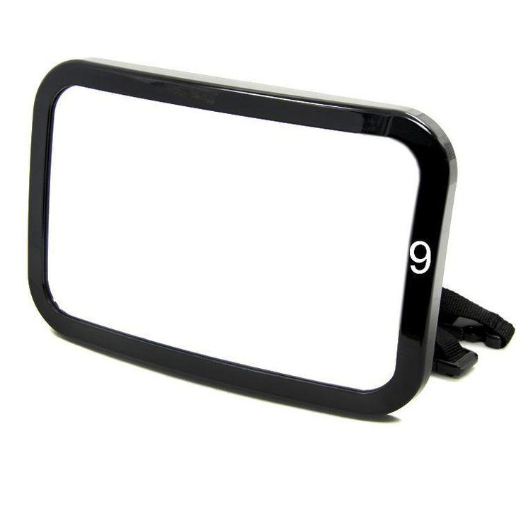 TIROLT22056b Черный прямоугольник Автомобилей Регулируемая Детские Зеркало/Авто Заднего Детская Безопасность Выпуклое Зеркало для Автомобиля Детские Товары Безопасности