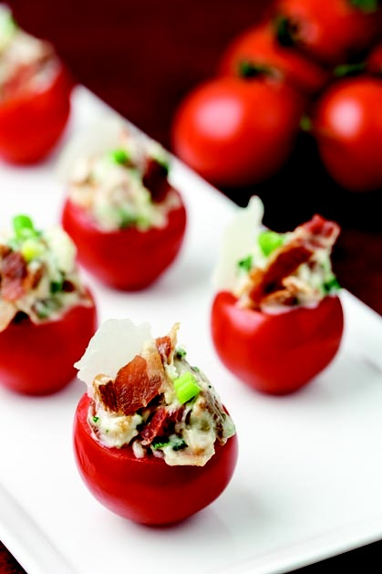 BLT Bites. These are the BOMB! They taste just like a BLT & are a huge hit at every gathering. They will disappear fast...