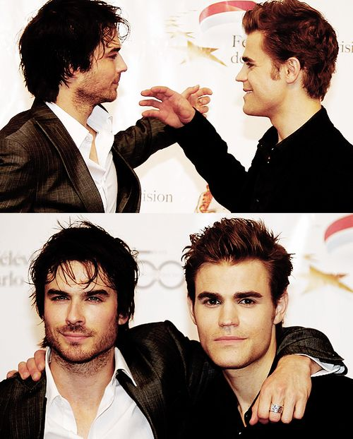Ian Somerhalder ~ Paul Wesley. Never seen The Vampire Diaries nor do i need to in order to know that these two are gorgeous;)