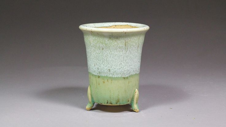 """Japanese Style 4.125"""" Orchid Pot with Feet by Ashley Keller"""