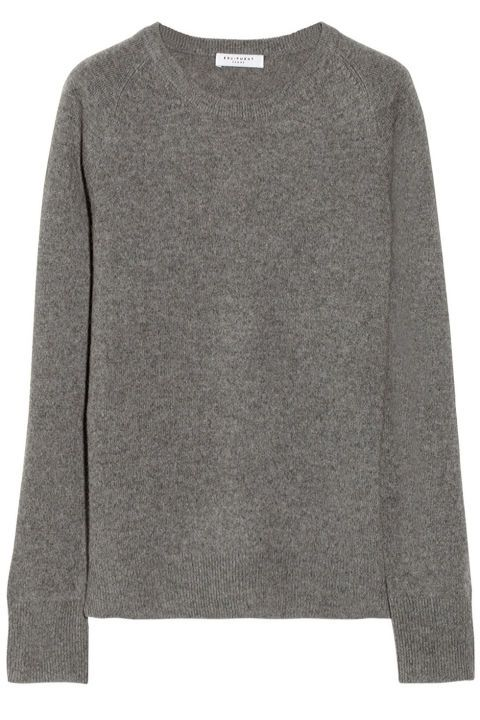 A cashmere sweater is great with jeans and just about everything else. We're also partial to J.Crew's featherweight cashmere, which comes in every color under the sun, but this Equipment one is the perfect shade of grey. Equipment Sloane Cashmere Sweater, $270; net-a-porter.com