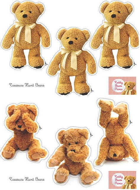 Cut-out teddy bears, write guests names on the back then have a scavenger hunt to find the bears around the party area.