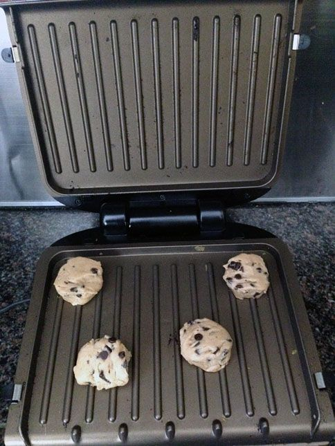 Cookies on the George Foreman grill