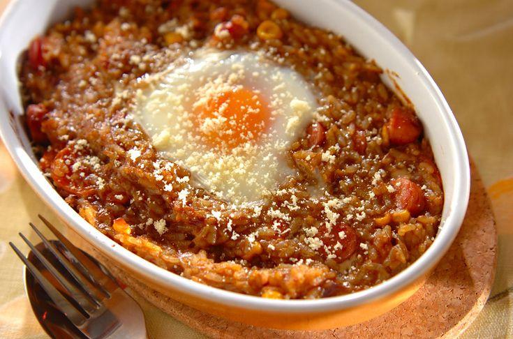 トロトロ卵の焼きカレーライスのレシピ・作り方 - 簡単プロの料理レシピ | E・レシピ