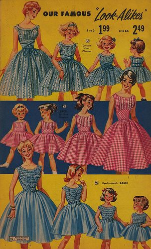 Our Famous Look-Alikes 1959  Love this concept ... especially for a convention/assembly with multiple children in tow!