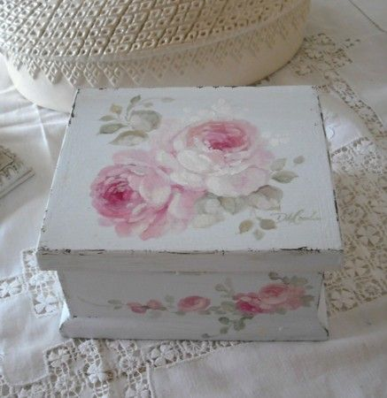 Debi Coules Shabby French Chic Art..My Mother was a tole artist and I have a few…