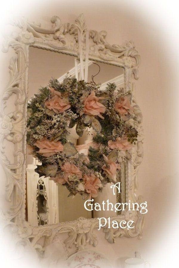DIY:  Christmas Wreath~SHABBY COTTAGE CHIC WONDERFUL~