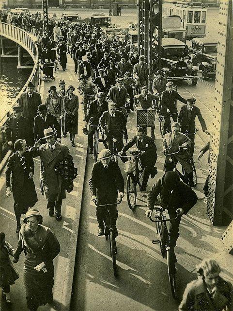 167--Copenhagen commuters Denmark 1930's | Flickr - Photo Sharing!