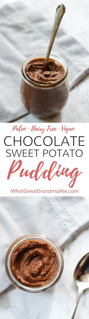 Paleo Vegan Chocolate Sweet Potato Pudding (Gluten Free Dessert, Dairy Free) via @whatggmaate