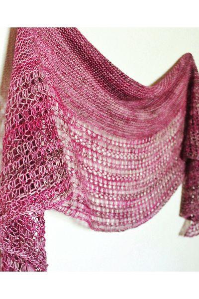 Ravelry: Rosewater shawl with The Uncommon Thread Singleton - knitting pattern by Janina Kallio.
