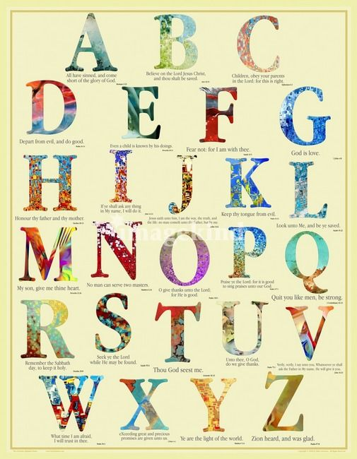 The Christian Alphabet Poster Mark Lawrence Scripture