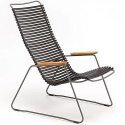 Lounge Chair Click Houe schwarz, Designer Henrik Pedersen, 92x64x100 cm Houe