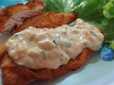 Peixe Empanado com Molho T�rtaro - Veja mais em: http://www.cybercook.com.br/receita-de-peixe-empanado-com-molho-tartaro.html?codigo=17147