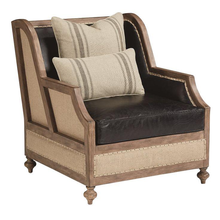 Magnolia Home Furniture Ivory & Saddle Black Leather Chair - Foundation