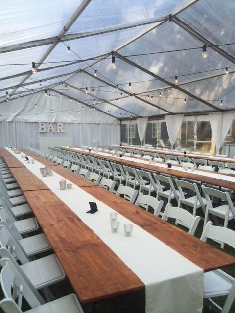 festoon globes, barn tables & americana chairs waverley estate
