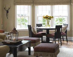 Tudor Revival traditional living room