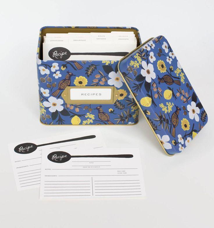 Capri Recipe Box & Cards