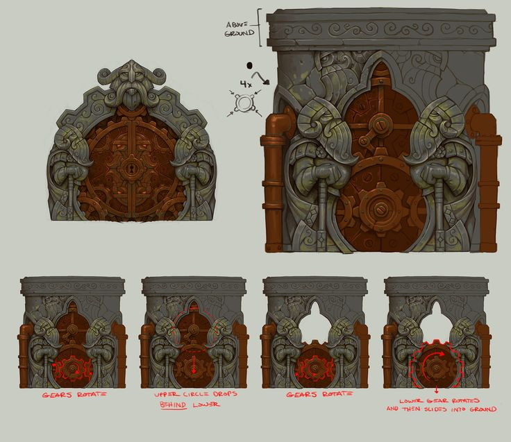 dwarven vault door torchlight 2 kyle cornelius on artstation at https
