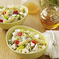 yummy cold pasta salad: Feta Cheese, 10 Recipes, Chicken Recipes, Salad Recipes, Pasta Salad, Food, Rotisserie Chicken, 15 Minutes, Cooking