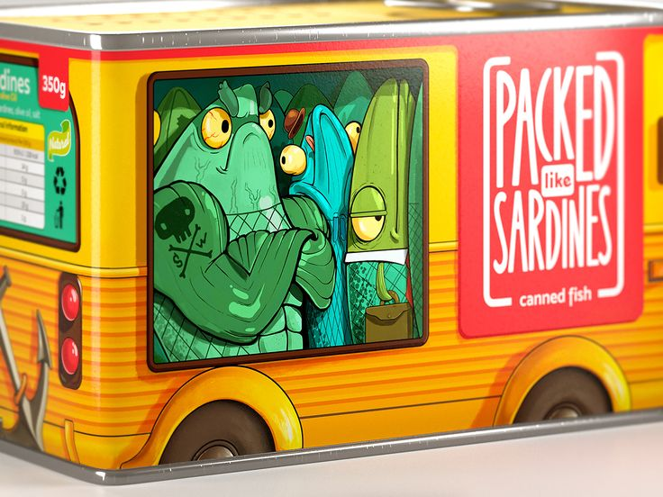 Packed Like Sardines (Concept) on Packaging of the World - Creative Package Design Gallery